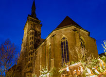 Christmas around Stiftskirche (2) Royalty Free Stock Images