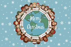 Christmas around the world royalty free illustration