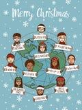 Christmas around the world Stock Image