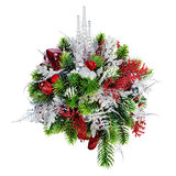 Christmas arrangement of Christmas balls, snowflakes, candles , Stock Photography