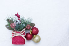 Christmas arrangement Royalty Free Stock Image