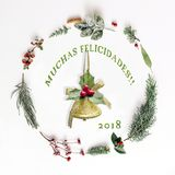 Christmas arrangement for decoration - Trad: Merry Christmas stock photo
