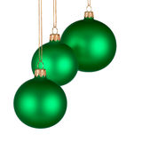 Christmas arrangement with green baubles Stock Photography