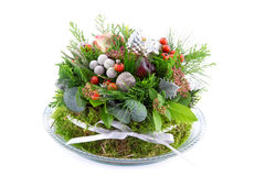 Christmas arrangement with ornaments Stock Image
