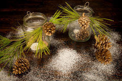 Christmas arrangement Stock Images