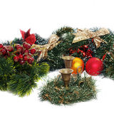 Christmas arrangement with vintage candlesticks Stock Photo