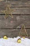 Christmas arrangement with vintage ornaments Stock Photo
