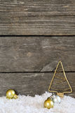 Christmas arrangement with vintage ornaments Royalty Free Stock Photo