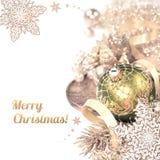 Christmas arrangement on white background Royalty Free Stock Image