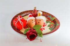 Christmas arrangements with eggs Stock Image