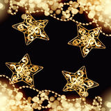 Christmas art design black background Royalty Free Stock Images