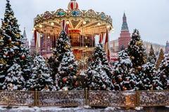 Christmas atmoshere w mieście obraz stock
