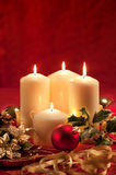 Christmas atmosphere - candles Royalty Free Stock Images