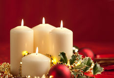 Christmas atmosphere - candles Stock Image