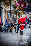 Christmas atmosphere. Christmas Eve in the streets (Cyprus Stock Images