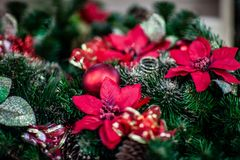 Christmas atmosphere, New Year decorations. santa claus royalty free stock image