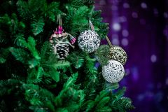 Christmas atmosphere, New Year decorations. santa claus stock photo
