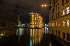 Christmas atmosphere in Norrkoping, Sweden Royalty Free Stock Images