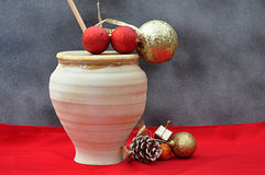 Christmas atmosphere on red Royalty Free Stock Photography
