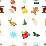 Christmas attributes and accessories cartoon icons in set collection for design. Merry Christmas vector symbol stock web. Christmas attributes and accessories Royalty Free Stock Image