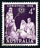 Christmas 1958 Australian Postage Stamp Stock Images