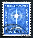 Christmas 1963 Australian Postage Stamp Stock Photography