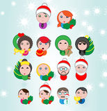 Christmas avatar  pack. Christmas avatar, mascottes and characters  pack with endless customization possibility Royalty Free Stock Images