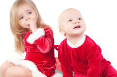 Christmas babies Stock Photography