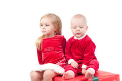 Christmas babies Royalty Free Stock Images