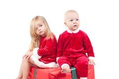 Christmas babies Stock Image