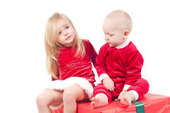 Christmas babies Royalty Free Stock Photos