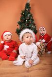 Christmas Babies Stock Photos