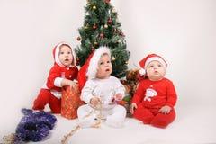 Christmas Babies Royalty Free Stock Photography