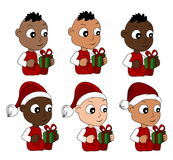 Christmas babies cartoon Royalty Free Stock Photo