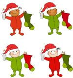 Christmas Babies Toddlers vector illustration