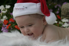 Christmas Baby 1. Soft focus image of 5 month old baby boy as he prepares for his first Christmas Stock Photography
