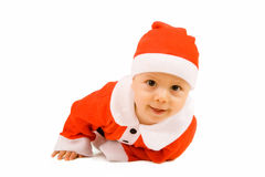 Christmas baby. On white background Stock Photography