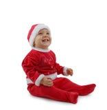 Christmas baby. Adorable christmas baby isolated on white Stock Photos