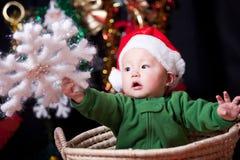 Christmas baby stock photography