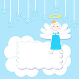 Christmas baby angel Stock Images