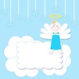 Christmas baby angel royalty free illustration