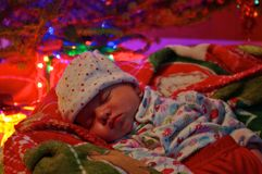 Christmas baby. Stock Photos