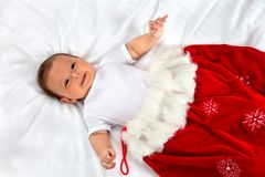 Christmas baby boy Stock Photos
