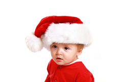 Christmas baby boy Royalty Free Stock Images