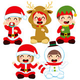 Christmas Baby Costumes Stock Photography