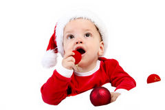 Christmas Baby Gift Stock Photos