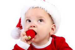 Christmas Baby Gift Stock Photo