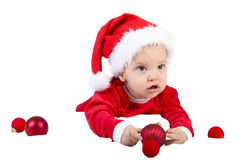 Christmas Baby Gift Royalty Free Stock Photo