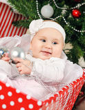 Christmas baby girl Royalty Free Stock Photo