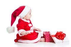 Christmas Baby Girl Royalty Free Stock Photos